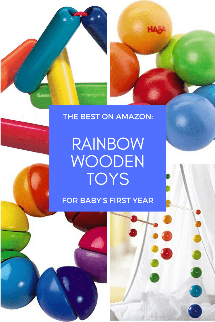 Rainbow Wooden Toys for Baby