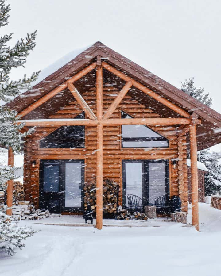 cabin life in winter