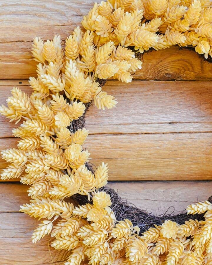 Farmhouse Front Door Fall Wreaths