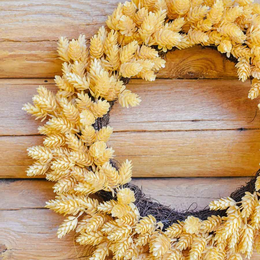 On Trend Farmhouse Front Door Fall Wreaths 2019