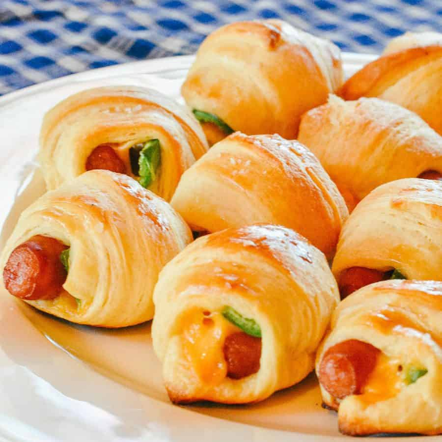 Pigs in a Blanket with Cheese and Jalapeno