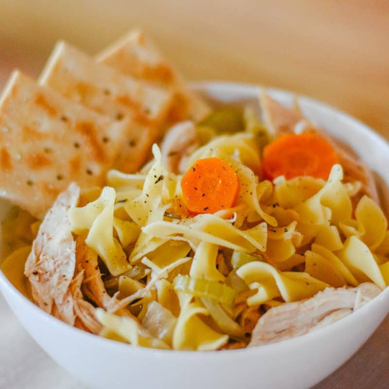 Grandma's Slow Cooker Chicken Noodle Soup