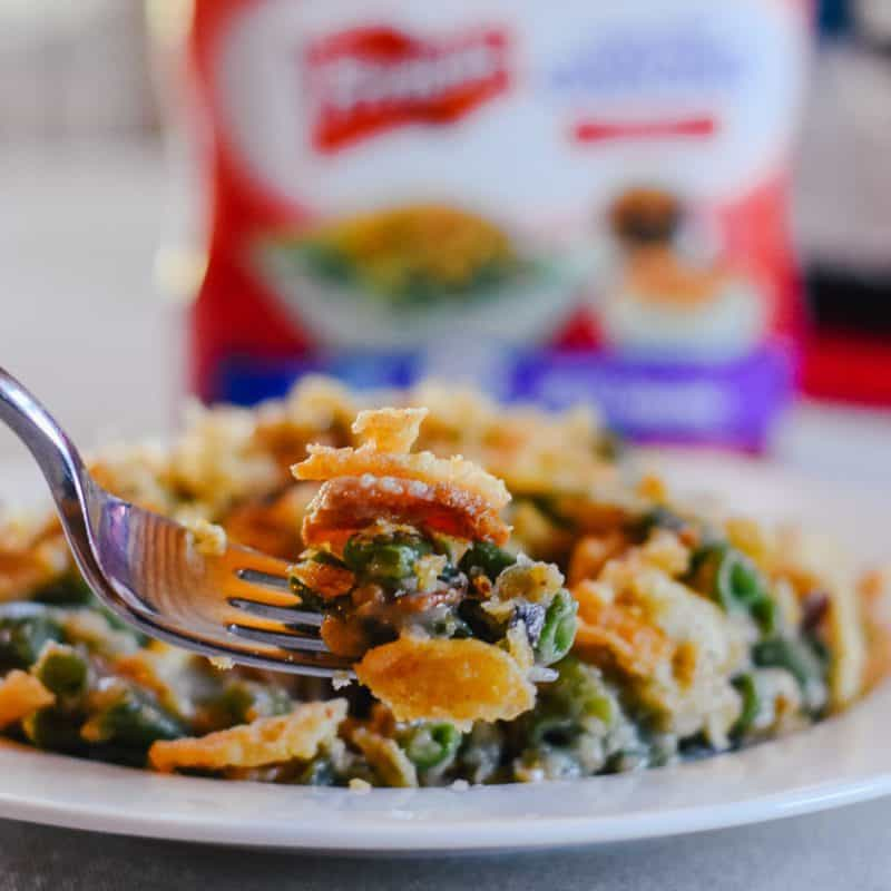 Crockpot Green Bean Casserole with Bacon