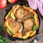 sillet pork chops and apples